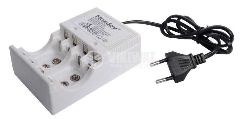 Зарядно устройство за акумулаторни батерии, 1 - 4 x AA / AAA или 2 x 9V, Ni-MH / Ni-Cd - 2