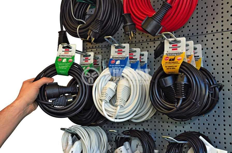 Удължител, Brennenstuhl, 5m кабел, 3x1.5mm2, IP20, черен - 2