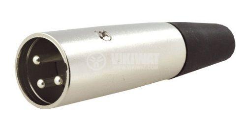 Аудио конектор, XLR-3W-2, 3 pin, щепсел, мъжки, прав