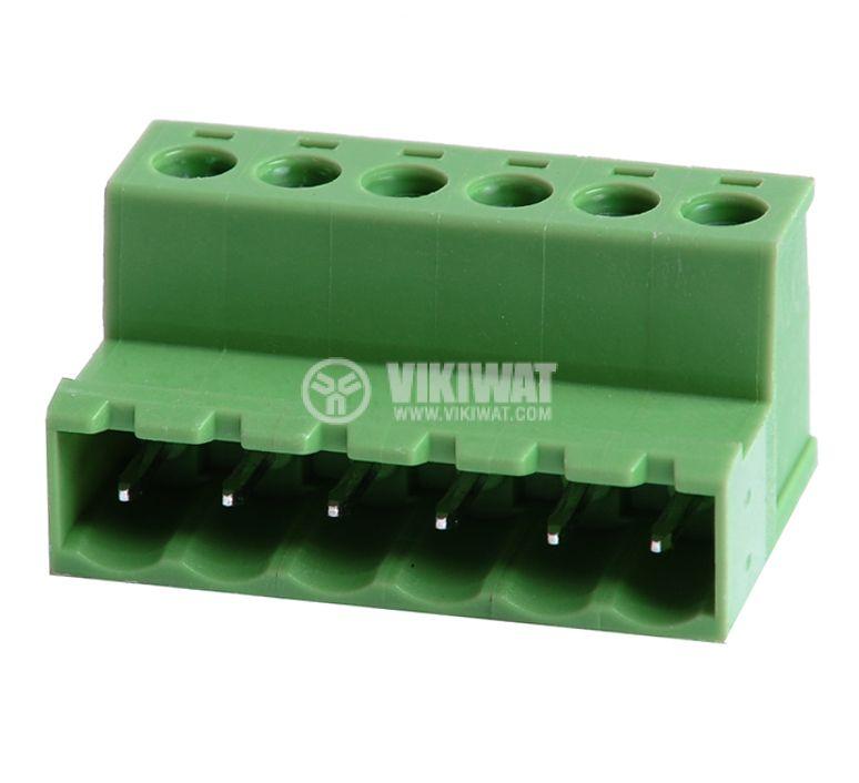 Мъжки  конектор, терминален блок 5 mm, VF2EDGRK - 5, 6pin, 15A - 1