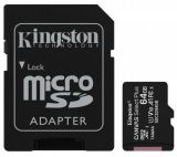 Карта памет KINGSTON Canvas Select Micro SDHC, 64GB, клас 10