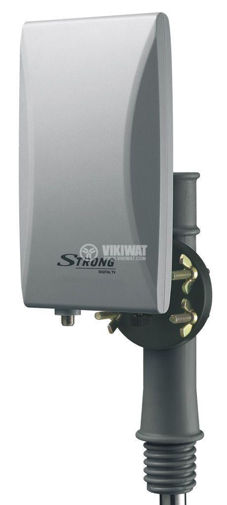 Ефирна DVB-T/T2 външна антена SRT ANT45, LTE филтър и усилвател - 2