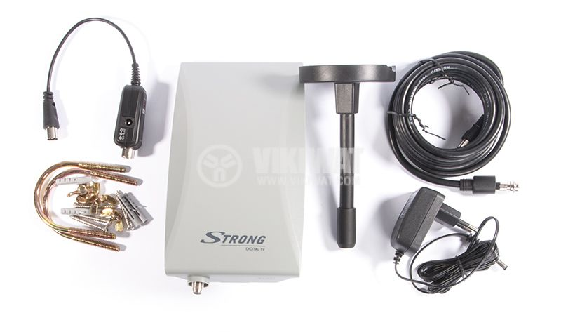 Ефирна DVB-T/T2 външна антена SRT ANT45, LTE филтър и усилвател - 5