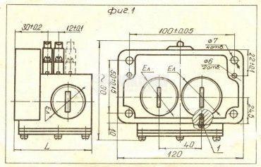 Multiple Position Limit Switch ПК-04, 4PDT-4NO+4NC, 10A/250VAC - 2
