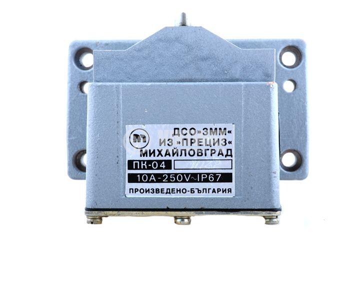 Multiple Position Limit Switch ПК-04, 4PDT-4NO+4NC, 10A/250VAC - 6