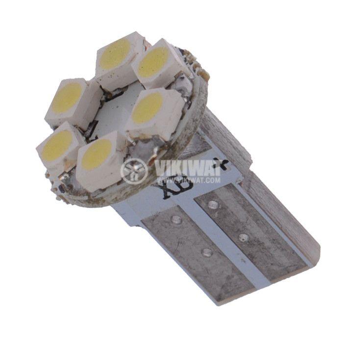 Auto LED lamp, 12V, 6 LED, W2.1x9.5d