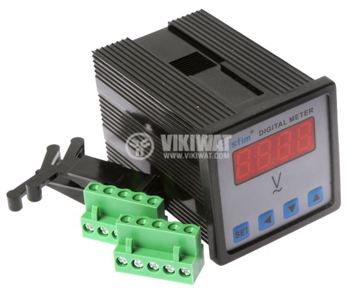 Digital voltmeter, 0-600V AC, SFD-48X1-U - 1