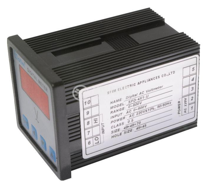Digital voltmeter, 0-600V AC, SFD-48X1-U - 3