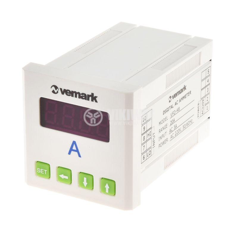 Digital ammeter, 0-5A AC, VFD-48 - 1