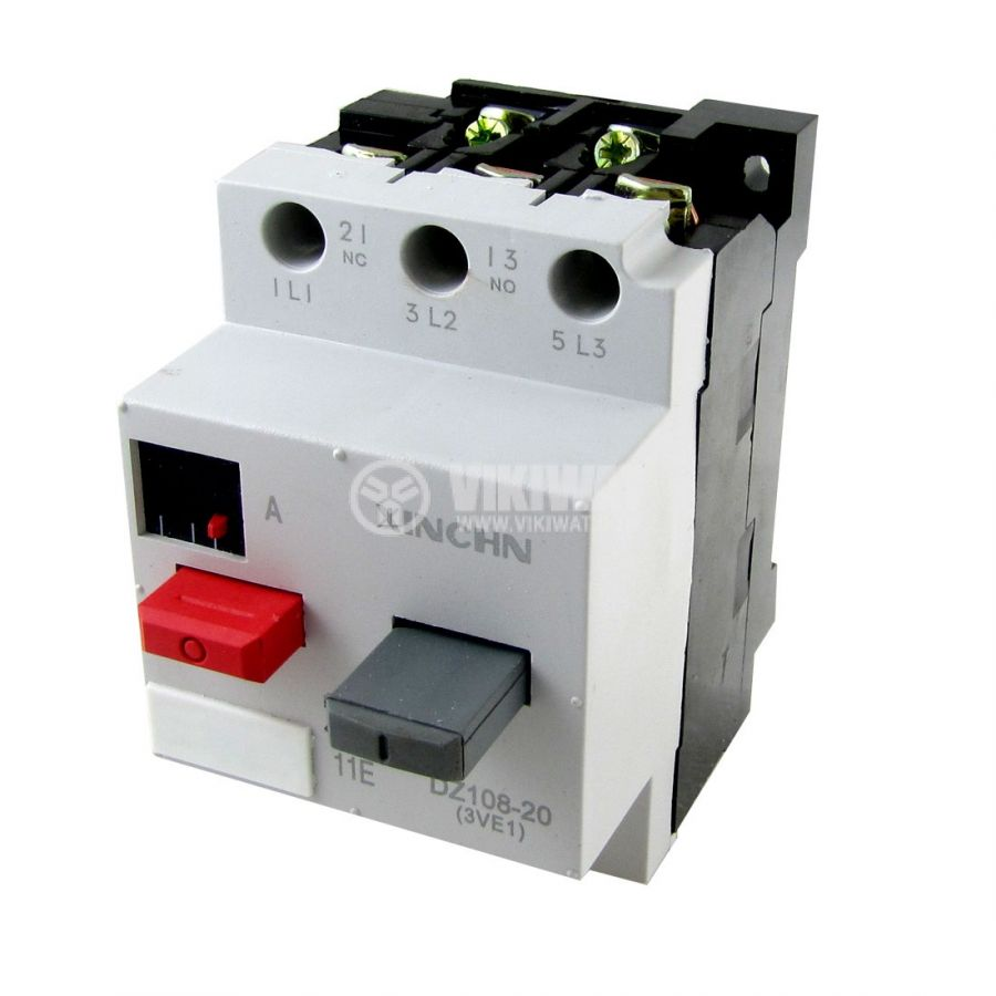 Motor circuit breaker 3ve1 1 6 2 5a no and nc 380vac for 3 phase motor protection