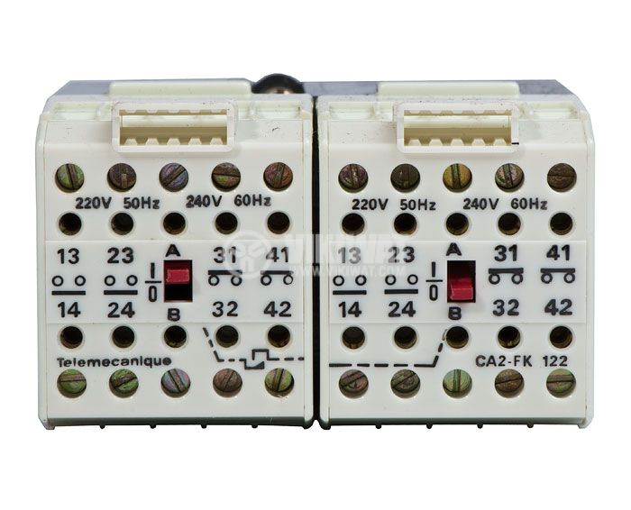 Contactor, eight-pole, coil 220VАC, 8PST - 4NO+4NC, 4A, CA2-FK122 - 2