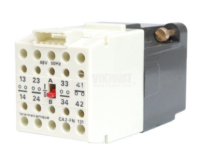 Контактор, четириполюсен, бобина 48VАC, 4PST - 3NO+1NC, 4A, CA2-FN 133E - 1