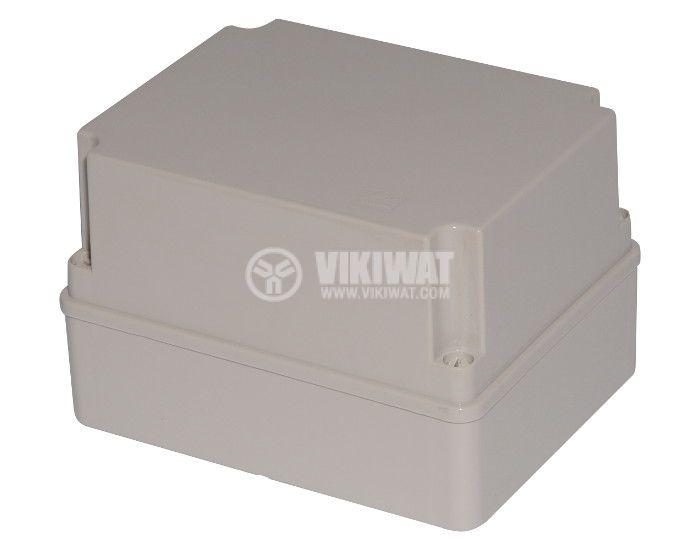 Пластмасова кутия VB-AG-1924-1, 240x190x160mm, PVC, сива - 1