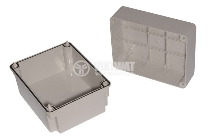 Пластмасова кутия VB-AG-1924-1, 240x190x160mm, PVC, сива - 2