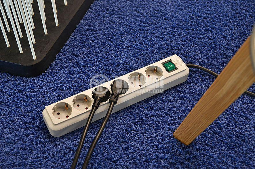 Разклонител 6-ца, 1.5m кабел,бял 3х1.5 mm2 с ключ - 2