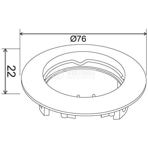 Арматура за вграждане, MITTO-R, кръгла, за халогенни и LED луни, бял мат, GU5.3/GU10, BH03-02060 - 3