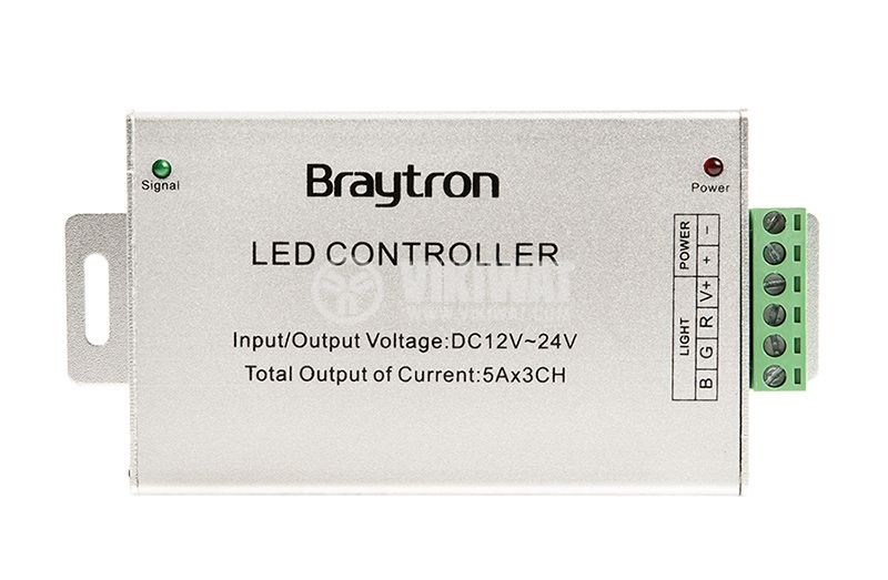 LED RGB controller BY30-01110, 180W, 3x5A, 12VDC - 3