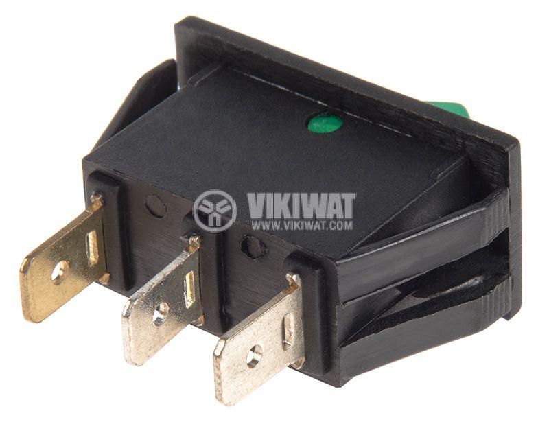 Rocker Switch, 2-position, OFF-ON, 15A/250VAC, hole size 25x13mm - 3
