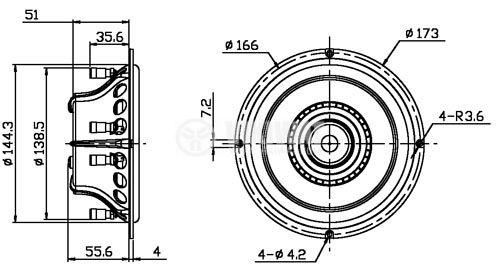 "Trinity-6 3-Way Ribbon Coaxial Full-Frequency speaker 6 1/2"" - 4"