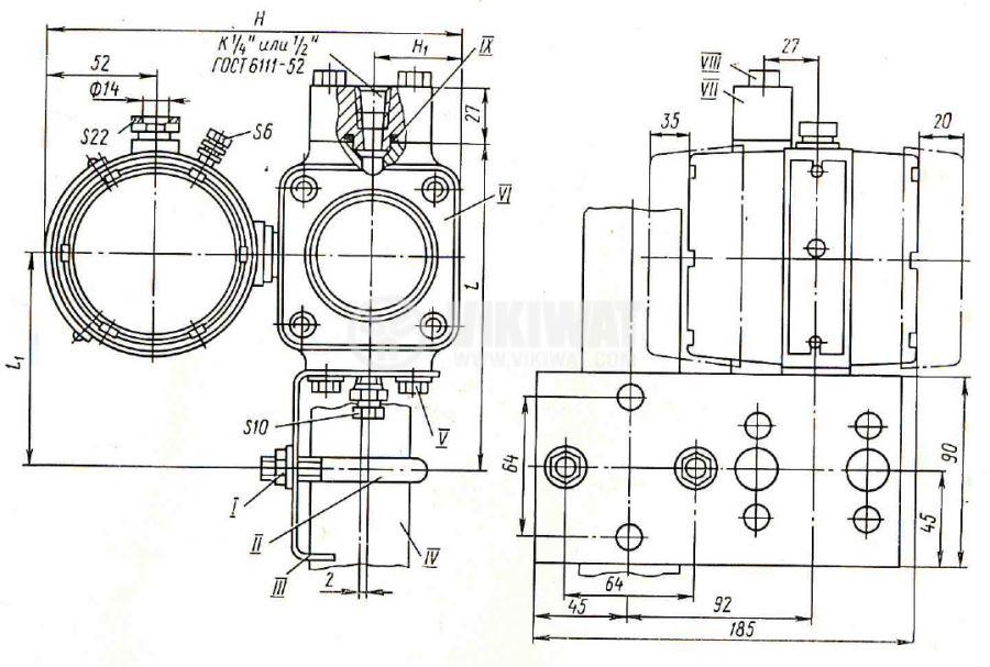 Pressure transducer, Sapphire 22DA (20-20), 10 кРа, 36VDC - 2