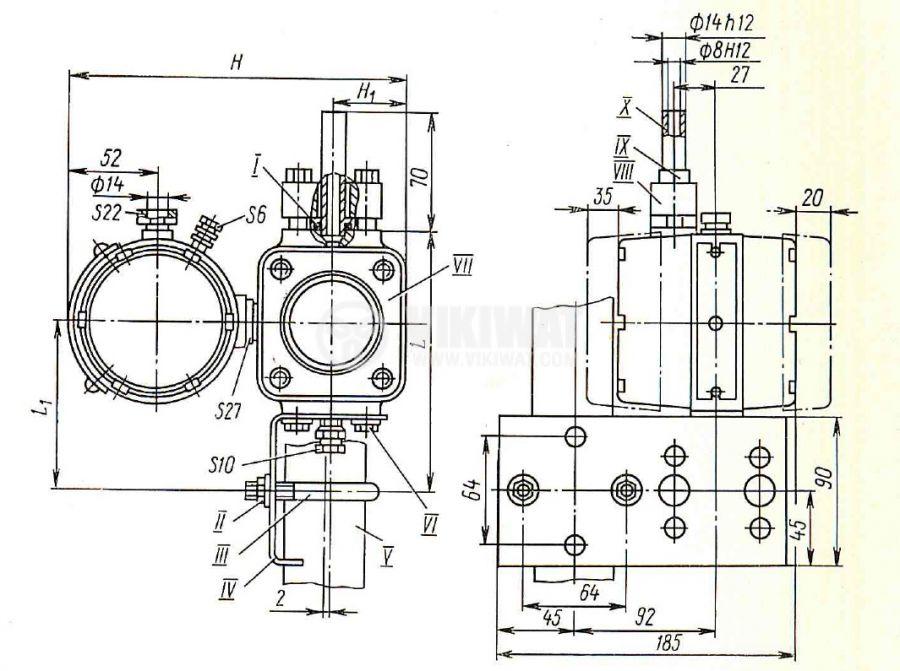 Pressure transducer, Sapphire 22DA (20-20), 10 кРа, 36VDC - 3