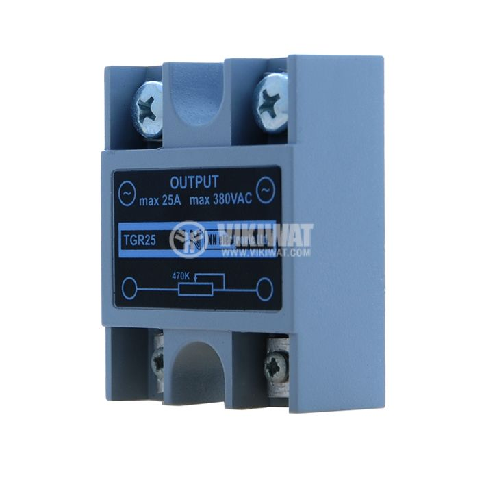 Phase regulator, TGR25, 470 kOhm, capacity 25A / 380VAC - 1