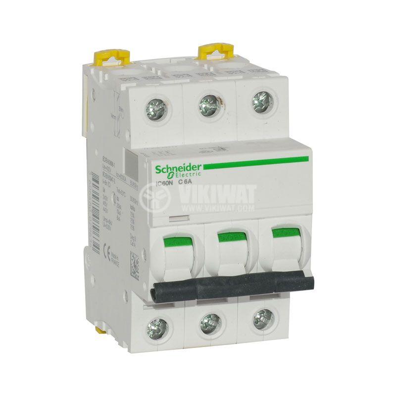 Circuit breaker 3P 3x6A C60N Multi9 DIN rail curve C - 1