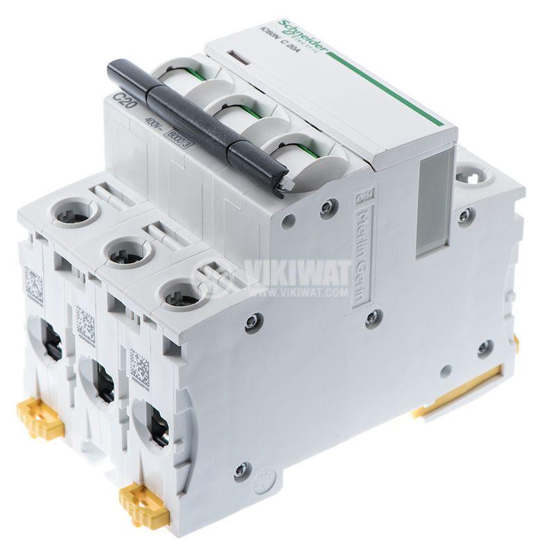 Circuit breaker 3P 3x20A C60N Multi9 DIN rail curve C - 1