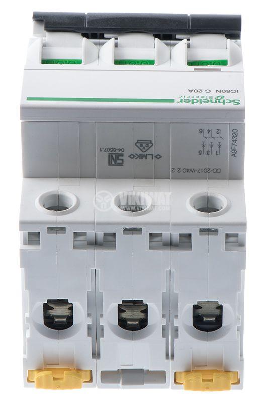 Circuit breaker 3P 3x20A C60N Multi9 DIN rail curve C - 6