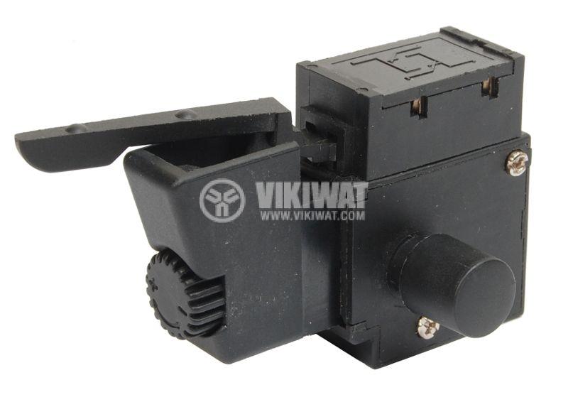 Електрически прекъсвач (ключ), регулатор на обороти и реверс за ръчни електроинструменти  F8-5/1BEK 6A/250VAC - 1