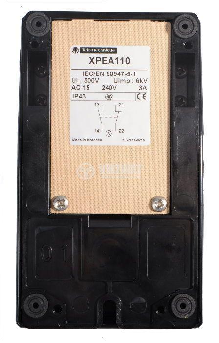 Single Foot Switch, XPEA110, NO+NC, 250 VAC - 3