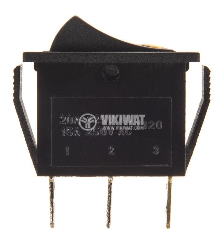 Клавишен превключвател, MK 2411 C/N, 15A/250VAC, SPST - 2