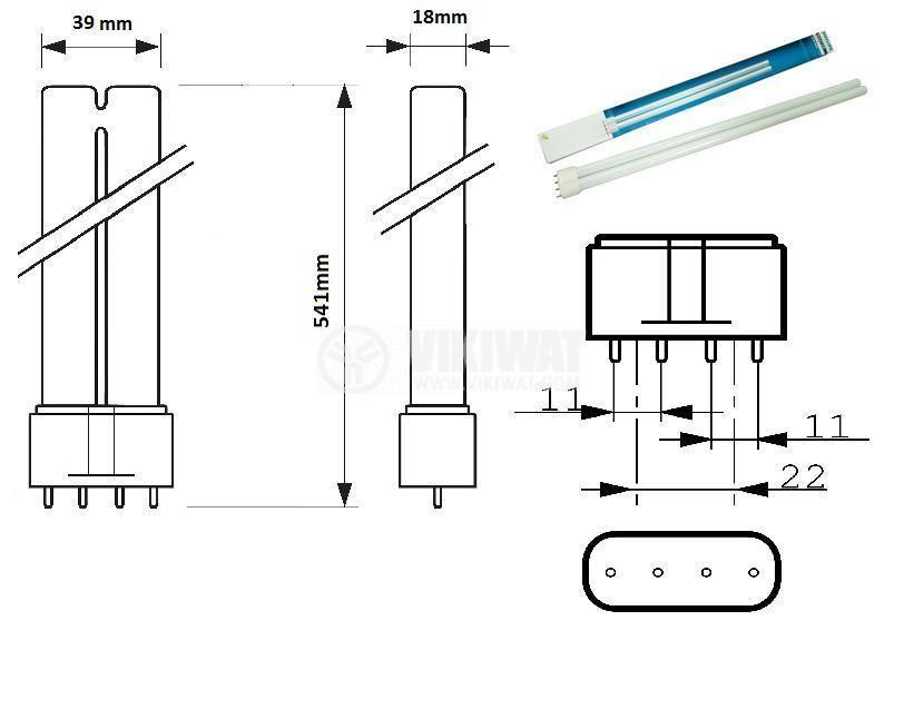 Fluorescent Lamp, PL-L, 55 W, 840, 4P - 2