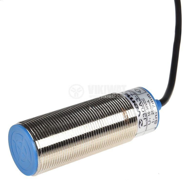 Proximity Switch T-LJ30A3-7-Z/CX, 10-30VDC, NPN, NO+NC, M30x80mm, range 7mm, shielded - 1