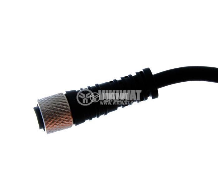 Connector for sensor 4pins Ф7 + nut - 2