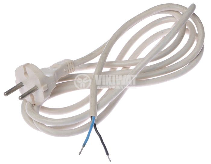 Power cable, 2x0.75 mm2, 2m white