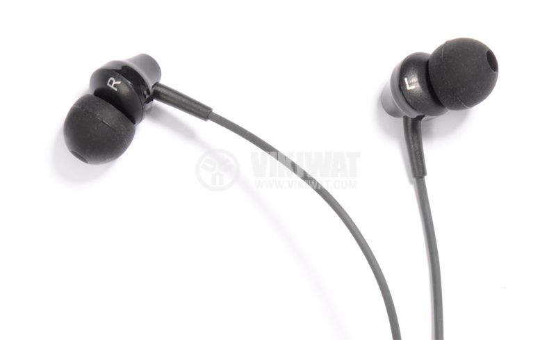 Слушалки тип тапи REMAX, 3.5mm, черни - 3
