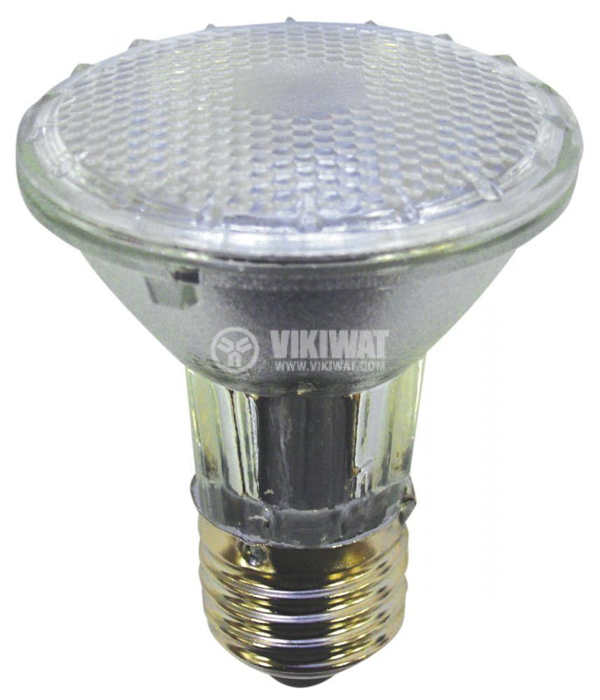 Халогенна лампа PAR20, E27, 230 V, 50 W, бяла