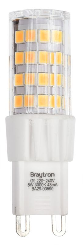 LED лампа 5W, G9, 420lm, 220VAC, 3000K, топло бяла, BA29-00590 - 3