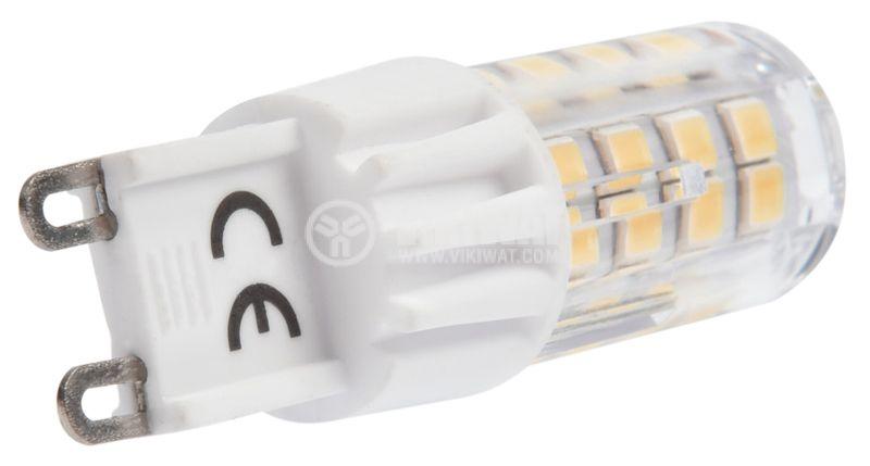 LED лампа 5W, G9, 420lm, 220VAC, 3000K, топло бяла, BA29-00590 - 4