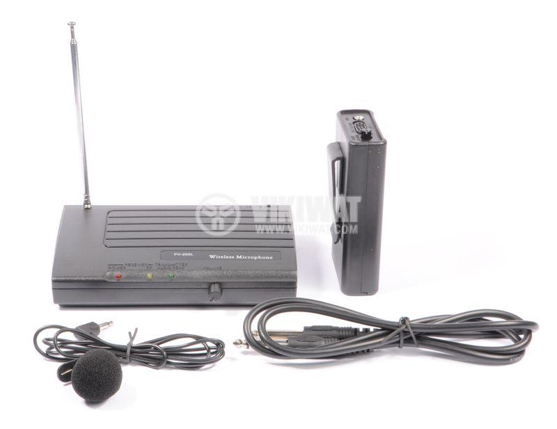 """Микрофон PV-200L, тип """"брошка"""", безжичен, 9V, 90dB, 200mA - 3"""