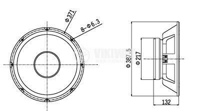 Speaker BIEMA BMLL1502 250W 8Ohm - 2