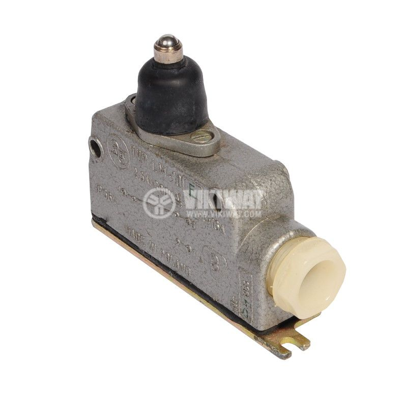 Limit Switch LM-10E, SPDT, 2.5A/380VAC, plunger with ball roller