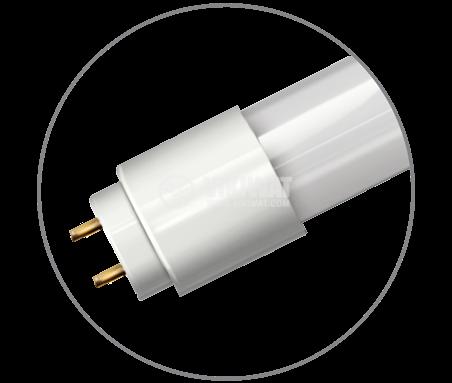 LED тръба, 1200mm, 18W, 220VAC, 1750lm, 4200K, неутрално бяла, G13, T8, двустранна, BA52-01281 - 4