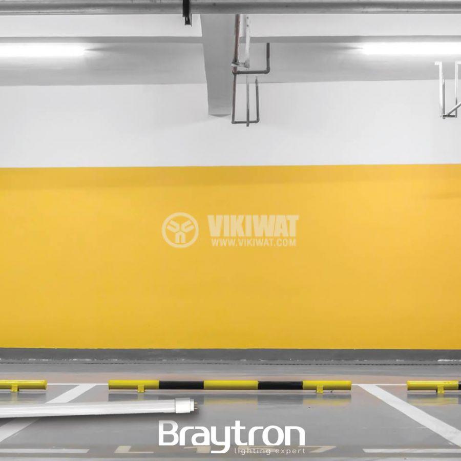 LED тръба, 1200mm, 18W, 220VAC, 1750lm, 4200K, неутрално бяла, G13, T8, двустранна, BA52-01281 - 3