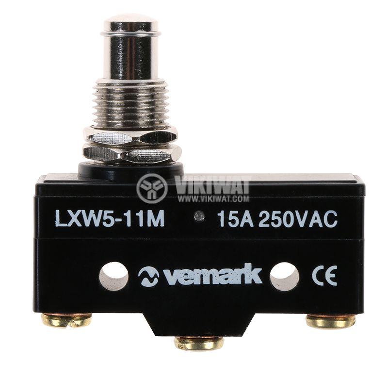 Краен изключвател, LXW5-11M, SPDT-NO+NC, 15A/480V, щифт - 1