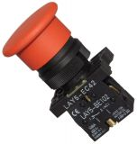 Button Switch LAY5-EC42 400 VAC / 10A SPST-NC red