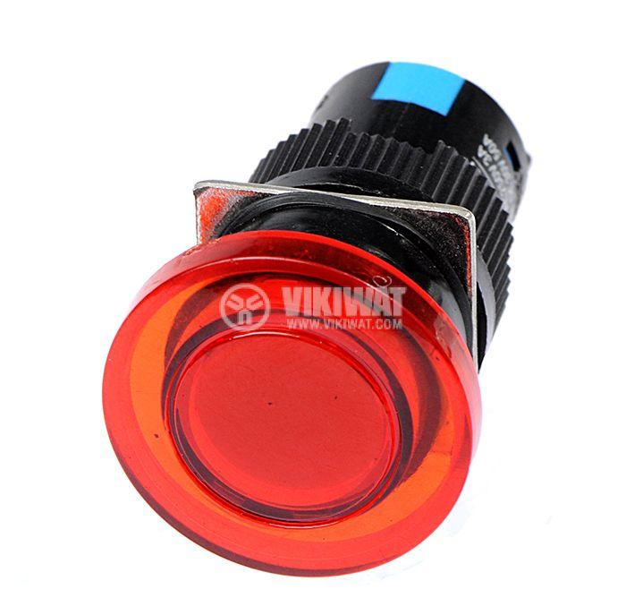 Бутон светещ тип RAFI SDL16-11МD 24VAC/DC SPDT - NO+NC червен - 2