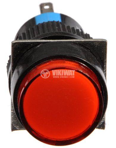Бутон светещ тип RAFI LA139S-11ADT 24VAC/DC SPDT - NO+NC червен - 2