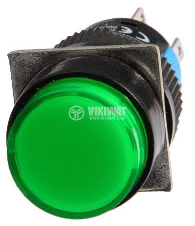 Бутон светещ тип RAFI LA139S-11AD 24VAC/DC SPDT - NO+NC зелен - 2